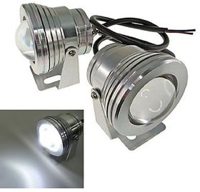 Generic (unbranded) White LED Projector Silver Fog Lamp 1-pcs(10W)