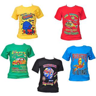 8e074b367d4 Buy Pari Prince Multi Colour 100 Cotton Shirt (Set Of 5) Online - Get 44%  Off