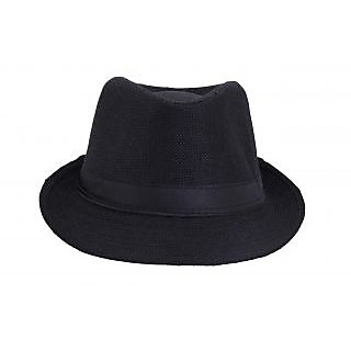 5d34b7ae270 Buy FabSeasons Mens Fedora Hat HM16black Online   ₹539 from ShopClues