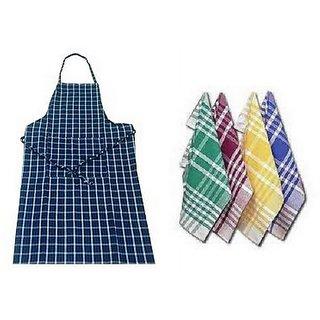 angel homes kitchen combo of apron + 4 napkins