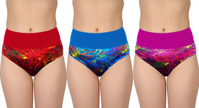 Bm Fashion  Set Of 3 Women's Printed Tummy Tucker Panties