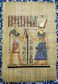 papyrus handmade decorative painting size 41 bu 61 cm