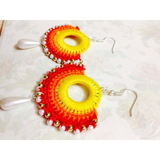 Silkthread handmade Earrings