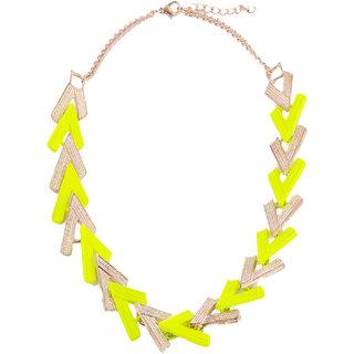 Fayon Chunky Fashion Neon Green Rock Style Choker Necklace