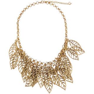 Fayon Chic Stylish Vintage Leaf Shape Alloy Crew Necklace