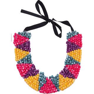 Fayon Funky Fashion Multicolour Beaded Choker Necklace