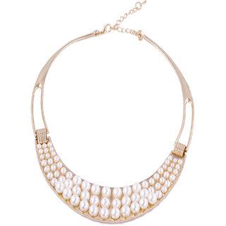Fayon Fashion Statement Three Layer Pearl Necklace