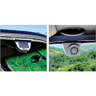 ab77dbbeeaeb6 Buy Solar Powered Car Auto Air Vent Cool Fan Cooler Ventilation System for  Parked Cars Online - Get 48% Off
