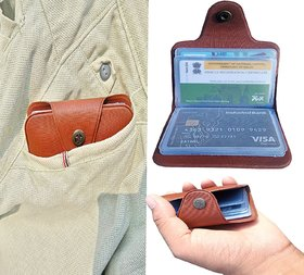 ATM Card Holder Leatherite 12 Card Brown or Black 1 Piece only