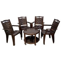 NILKAMAL CHAIR 2196 WITH CENTRO 11 TABLE - WEATHER BROWN