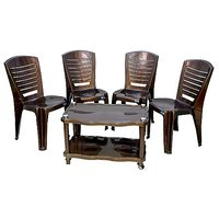 NILKAMAL CHAIR 4025 WITH CENTRO 04 TABLE - WEATHER BROWN