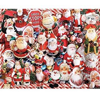 White Mountain Puzzles Crazy Santas - 1000 Piece Jigsaw Puzzle