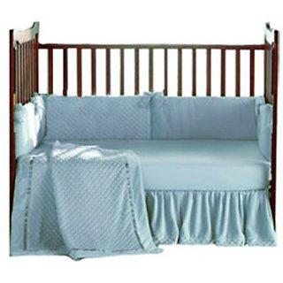 Baby Doll Bedding Heavenly Soft Crib Bedding Set, Blue