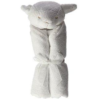Angel Dear Lamb Blankie - White