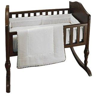 Baby Doll Bedding Ric Rac Port-a-Crib Set, White
