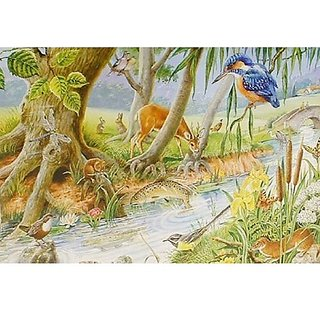 The House Of Puzzles By The Riverbank Big 250 Piece Jigsaw Puzzle