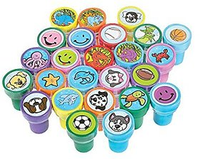 Rhode Island Novelty Assorted Stampers - 50 Pc Kids Sta