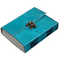 ININDIA Handmade Diary Notebook for Office / Home / Craft / Art Use With C lock Ocean Blue 6X4 inches