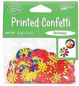 Creative Converting Tie Dye Fun Printed Confetti