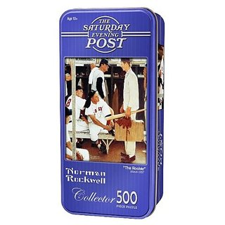 The Rookie Rockwell Tin 500 pc Jigsaw Puzzle