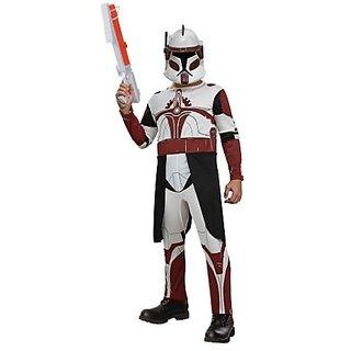 Star Wars Clone Wars Clone Trooper Childs Commander Fox Costume, Medium