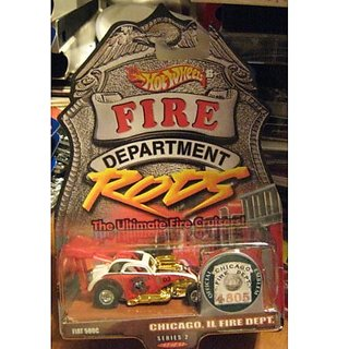 Hot Wheels Fired Department Rods Fiat 500C Chicago, IL Fire Dept Series 2 12/12