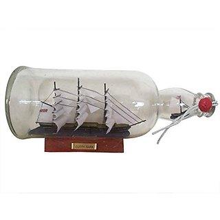 "Cutty Sark Model Ship In Glass Bottle 11"" Boat In A Bottle Cutty Sark Model"