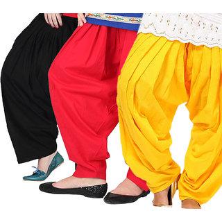KriSo Set of 3 Cotton Patiyala Salwar