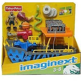 Imaginext Safari Boat and ATV Blue