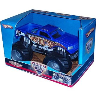 "Hot Wheels Monster Jam 1:24 Scale Die Cast Official Monster Truck 2008 Series - INSTIGATOR with Monster Tires, Working Suspension and 4 Wheel Steering (Dimension - 7"" L x 5-1/2"" W x 4-1/2"" H)"