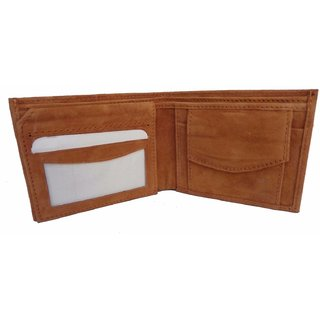 Kings Brown Genuine Leather Money Wallet Purse for Men Gents with Card Slots ZB112 WL17110