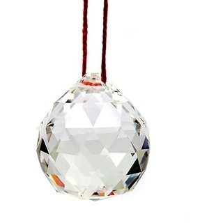 only4you Hanging Crystal Ball Sun Catcher- Positive Energy And Good Luck ( Pre Energized in Rock Salt)40mm Feng shui Vastu