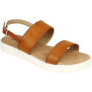d63d01c2b55 Buy Flora Women s Tan Sandals Online - Get 61% Off