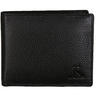 K London Mens Wallet Black-2005blk (Synthetic leather/Rexine)