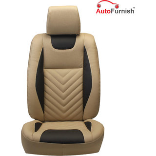 Autofurnish (PL-204 Domino) Toyota Etios Custom-fit Leatherette 3D Car Seat Covers