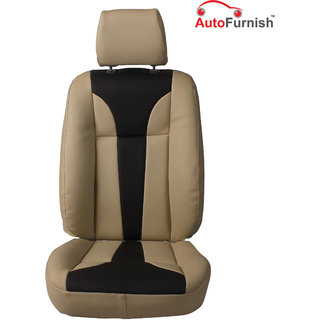 Autofurnish (PL-203 Tango) Maruti Alto K-10 Custom-fit Leatherette 3D Car Seat Covers