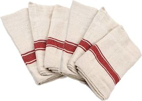 Aloud Creations Floor Duster Wet  Dry Cotton Cleaning Cloth / Mop 18 x 18 inch (Pack of 6)