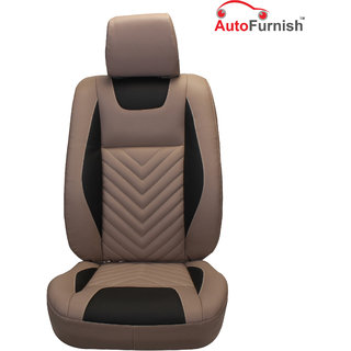 Autofurnish (PL-204 Domino) Honda Brio 2013-14 Custom-fit Leatherette 3D Car Seat Covers