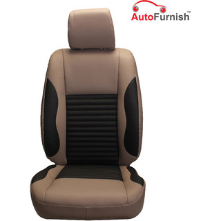 Autofurnish (PL-207 Cave) Mahindra Scorpio 8S Custom-fit Leatherette 3D Car Seat Covers