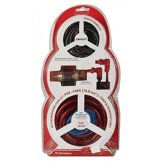 Konnect Professional Amplifier Installation Wiring Kit - Pk-8-4A (4Guage)