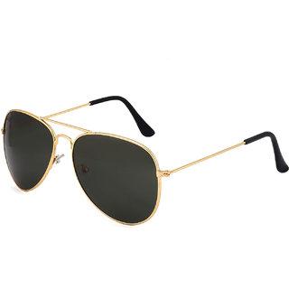 Royal Son UV Protected Aviator Sunglasses For Men and Women (WHAT433551Black Lens)
