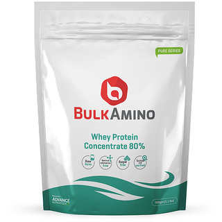 Advance Nutratech Bulkamino Whey Concentrate 80 Powder 500Gram(1.1Lbs) Unflavoured