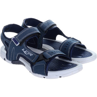 Lancer Men's Blue & Gray Velcro Sandals