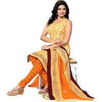 Drapes Red Dupion Silk Lace Salwar Suit Dress Material