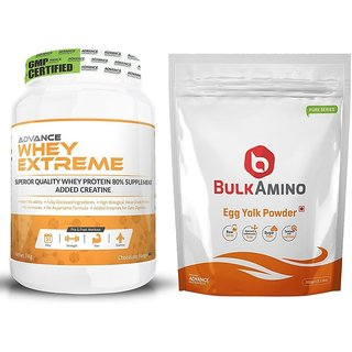 Advance Nutratech Combo Whey Extreme 2Lbs. Chocolate + Egg yolk 500gm.