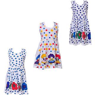 78b668239 Buy Pari   Prince Girls Cotton Multi colour Frocks (Set of 3) (1 to ...