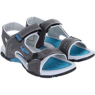 Lancer Men's Gray & Turquoise Velcro Sandals