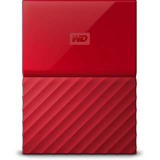 WD My Passport 1TB Hard Drive (Red)