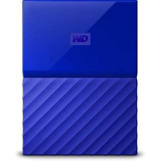 WD My Passport 1TB Hard Drive (Blue)