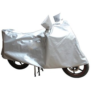 HMS Two wheeler cover with mirror pocket for TVS Apache RTR 180 - Colour Silver